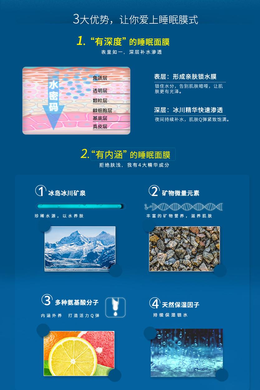 玻尿酸补水睡眠面膜-欧泉生化